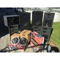 Complete DJ Club Audio Lighting System..see photos!