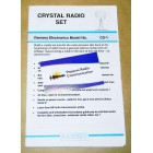 Ramsey Crystal Radio Set (Original Manual )