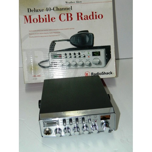 Chrome-Faced 40-Channel Mobile CB with Weather Alert TRC-447 NEW