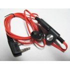 VALUE Earpieces and Mic on cable  - Bright Red Color - Low Price -