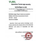 Authorization Distributor Letter (Quanzhou Tucson Age security tech.co ltd) Quanzhou Fujian China