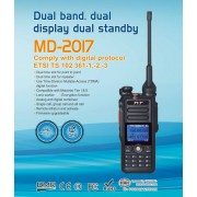 Professional DMR / GPS FM MD-2017 Portable TierI/II With Built-in GPS UNIT Transceiver