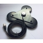 Mobile Antenna (Big Triple Magnets)  NMO MOUNT with coaxial cable assembly