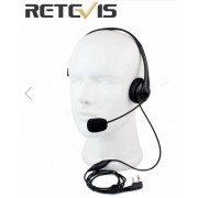 Headphone one ear with boom microphone - Retevis -