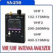 NEW MODEL SURECOM SA250 3 Band VHF/UHF Colour Graphic Antenna Analyzer