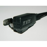 Surveillance TYT Earpieces - (Low Priced!) Flex Cable with tie / shirt clip - K-1 Plug